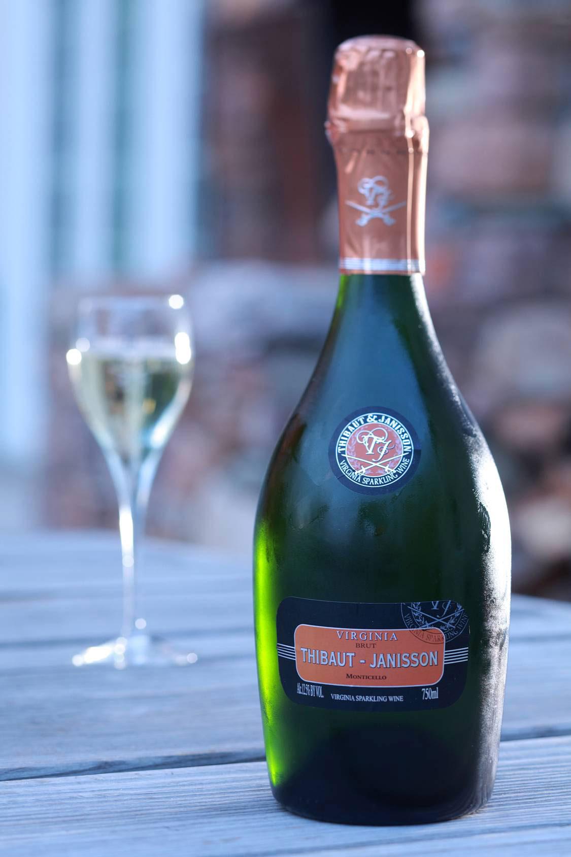 Thibaut Jannison Winery - Virginia Sparkling Wine - Blanc de Chardonnay